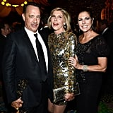 Tom Hanks, Christine Baranski, and Rita Wilson enjoyed HBO's reception.