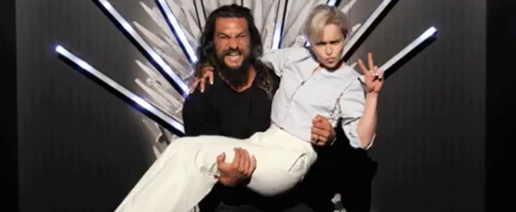 Jason Momoa and Emilia Clarke Game of Thrones Reunion 2018