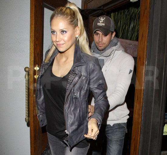 Pictures of Enrique Iglesias With Anna Kournikova in LA