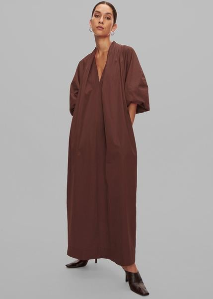 Esse Studios Collected Long Dress in Chocolate