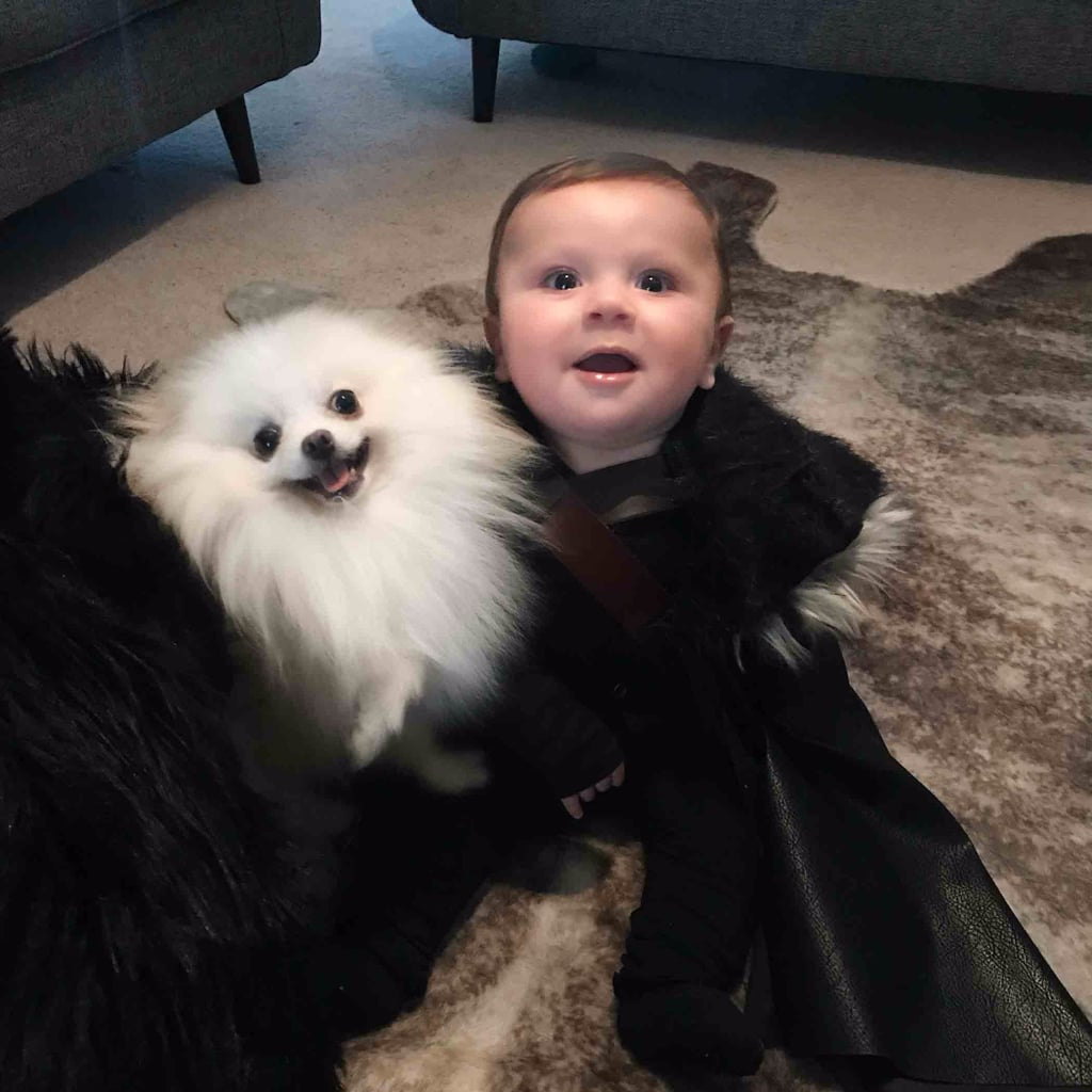 Jon Snow and Ghost Baby Halloween Costume