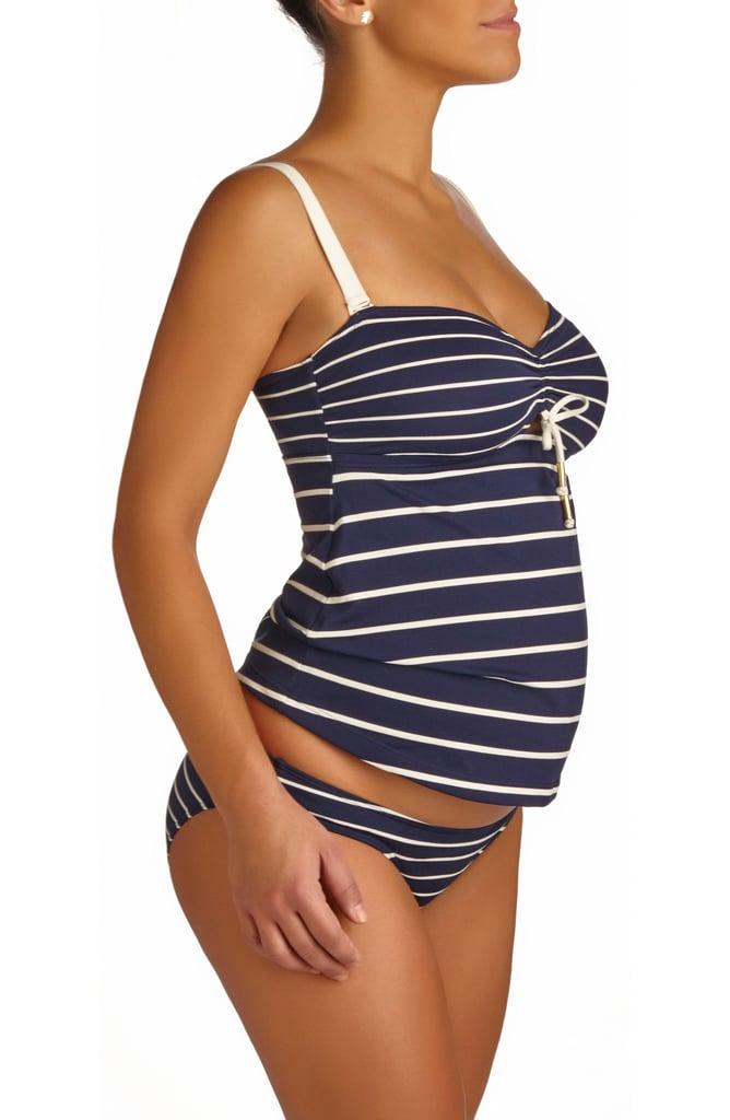 Pez D'Or Marine Stripe Maternity Tankini Swimsuit