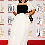 In black and white at the 2009 Logies.