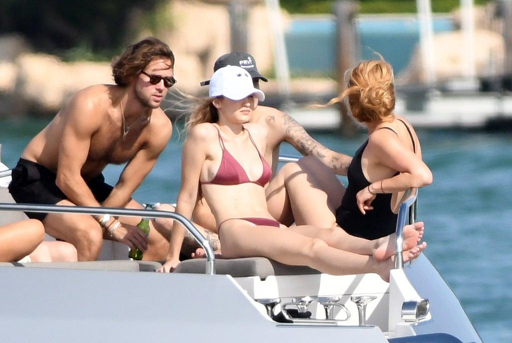 Gigi Hadid's Red Bikini in Miami