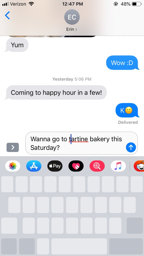 How Do I Easily Move the Cursor in a Text Message?