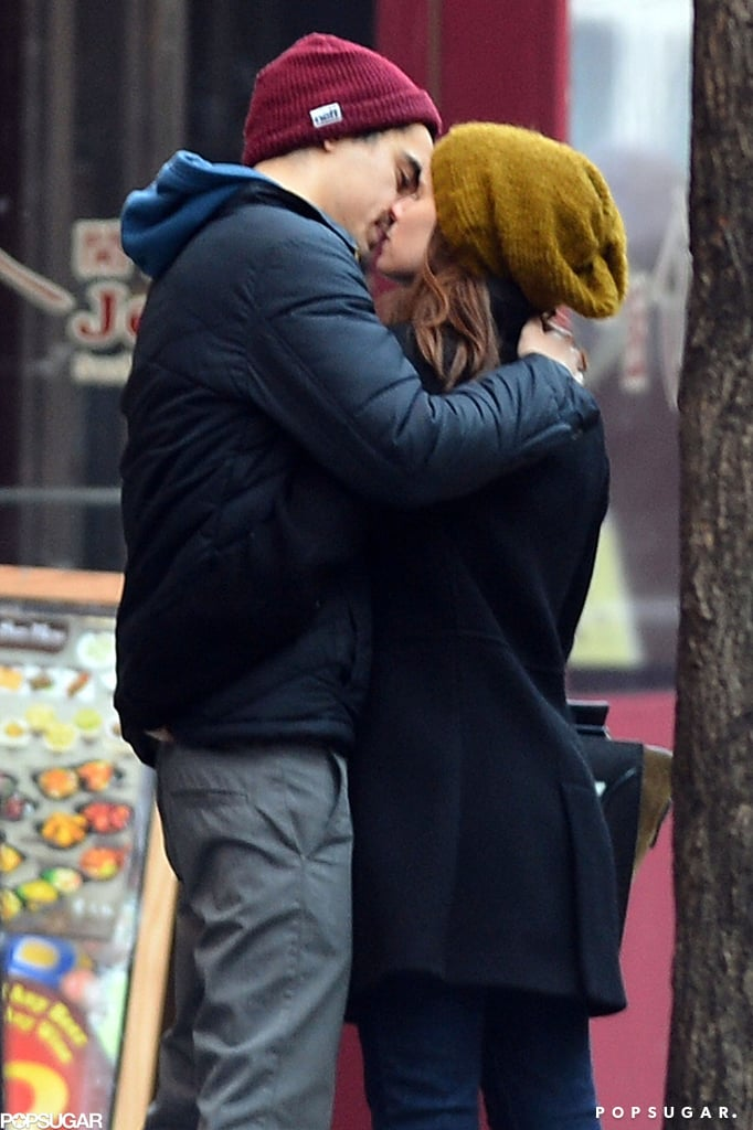 Kate Mara kissed boyfriend Max Minghella during a Valentine's Day outing in NYC.