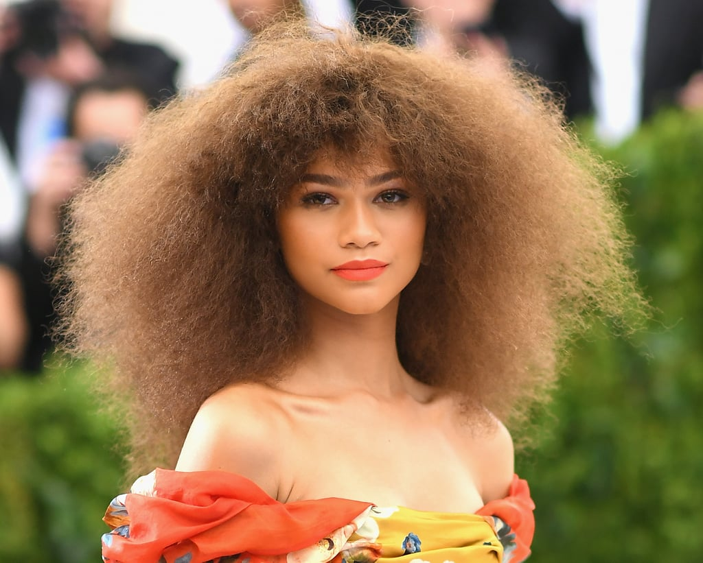 Curly Hair Styles With Bangs: Wavy: Zendaya Curly Bangs Are The Cherry On This Full