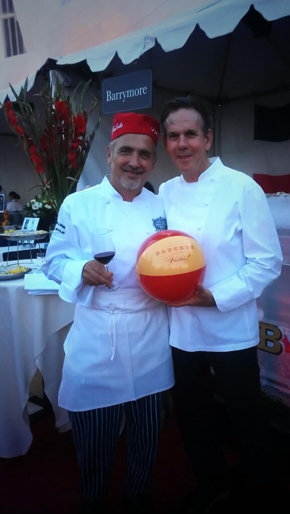 Thomas Keller said ciao! to fellow chef Gino Angelini.  Source: Twitter user @Chef_Keller