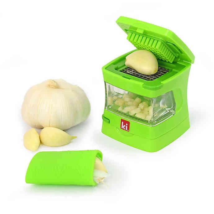 Kitchen Innovations Garlic Chopper with Garlic Peeler & Storage Container