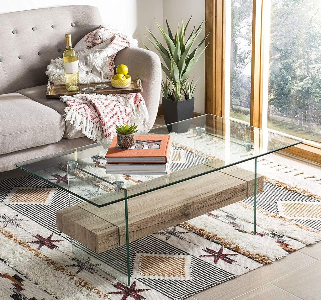 Safavieh Home Collection Kayley Modern Glass Coffee Table