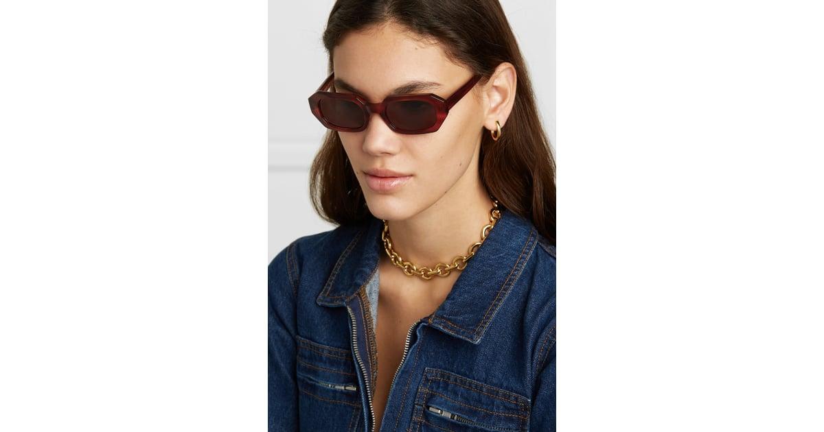 ffd3e943258b9 Le Specs La Dolce Vita Octagon Frame Tortoiseshell Acetate Sunglasses