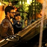 Justin Timberlake and Jessica Biel left a restaurant after sharing a meal together while vacationing in Europe.