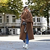 Pair Your Dad Sneakers With a Teddy Bear Coat