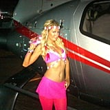 Paris Hilton got dressed up for the Electric Daisy Carnival.  Source: Twitter user ParisHilton