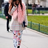 Style a Plaid Blazer With Floral Pants
