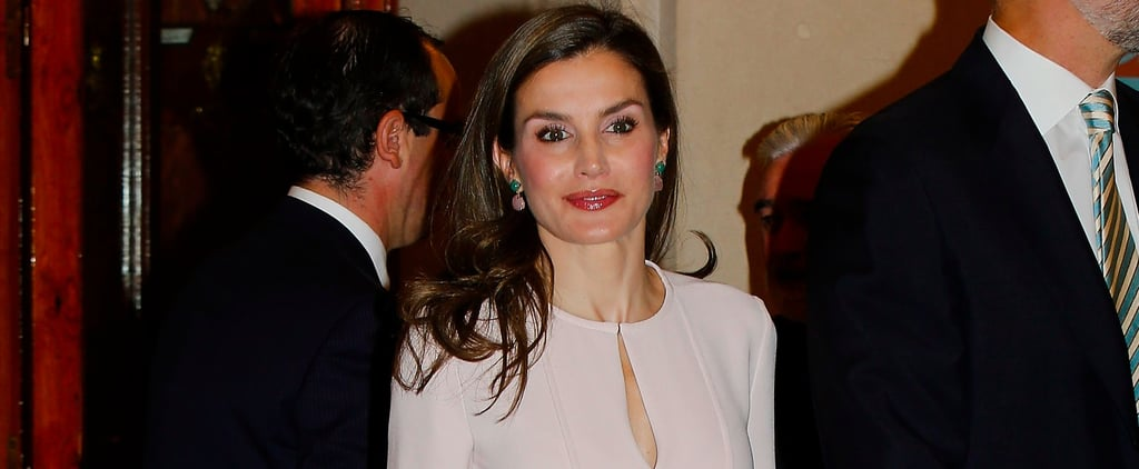 Queen Letizia Brightened Up a Light Pink Dress With the Ultimate Summer Accessory