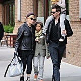 Hugh Jackman had wife Deborra-Lee Furness by his side when he took kids Ava and Oscar for an October 2011 walk in the Big Apple.