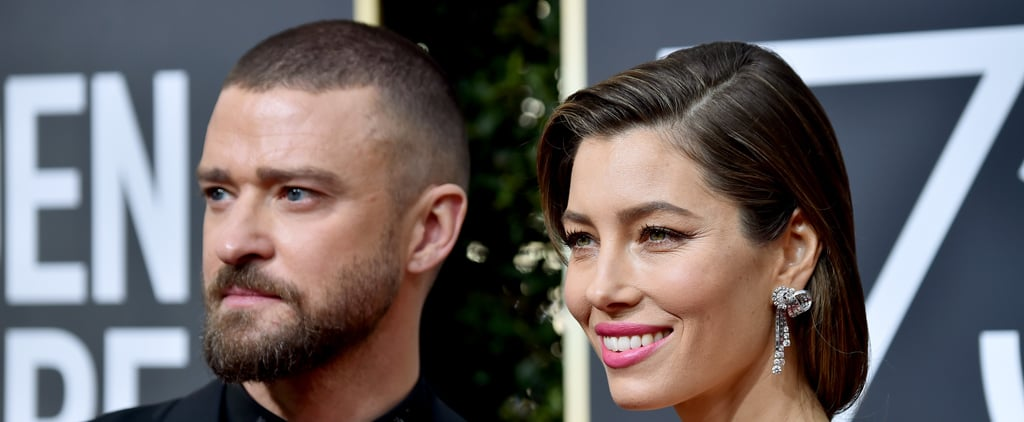 Jessica Biel's Grey Roots at the 2018 Golden Globes