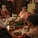 """Super Fun Night Lauren Ash, Paul Dooley, Rebel Wilson, Kevin Bishop, and Liza Lapira appear on the Dec. 11 holiday episode of Super Fun Night, """"Merry Super Fun Christmas,"""" on ABC."""