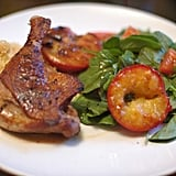 Duck Legs with Grilled Plums