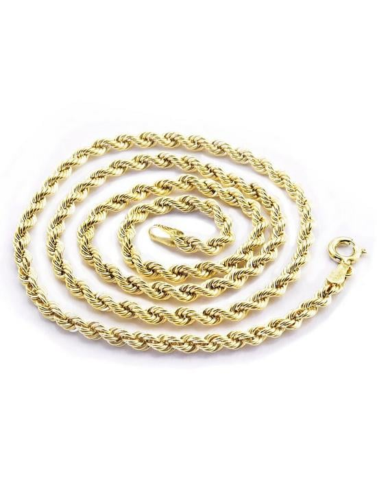 Love GOLD 9 Carat Yellow Gold Rope Chain