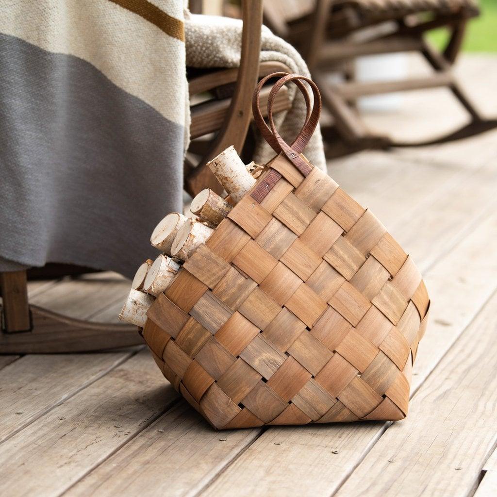 Maple Fireplace Basket