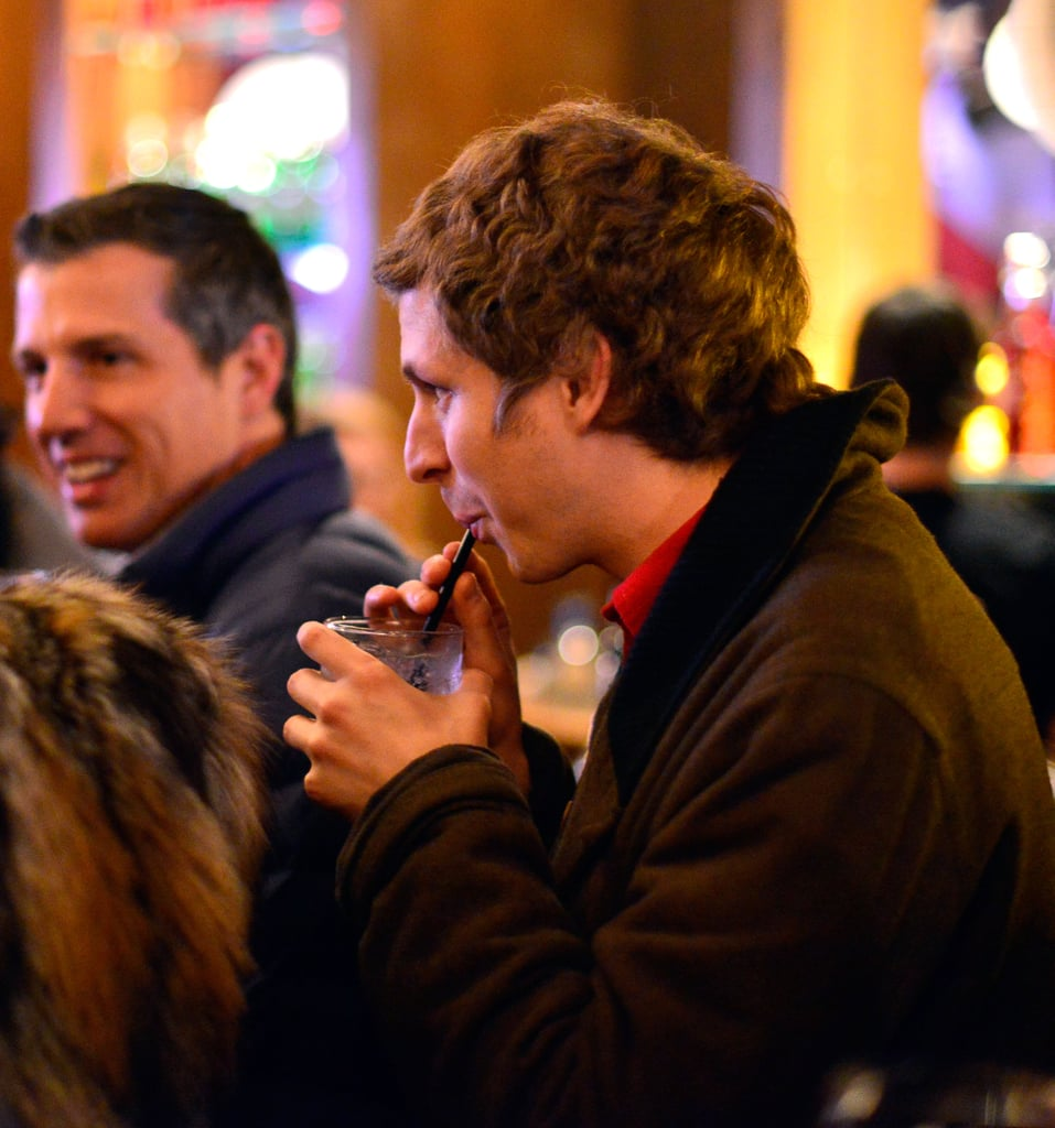 Michael Cera sipped on a drink at a Sundance afterparty.