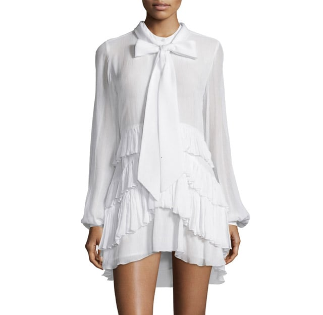 Rebecca Minkoff 'Vibkeke' Tie-Neck Ruffled Mini Dress ($348)