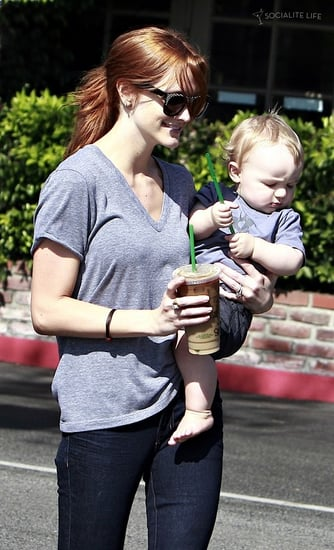 Ashlee Simpson and Bronx went for a coffee run