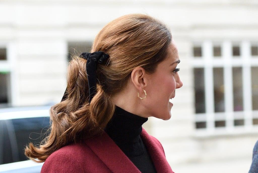 Kate Middleton's Velvet Bow Take Two, 2018