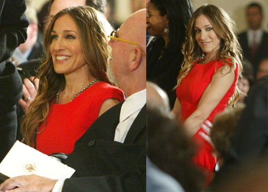 Photos of Sarah Jessica Parker Wearing Victoria Beckham Collection to the White House
