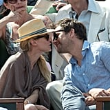 Josh and Diane Share Courtside Kisses During the French Open
