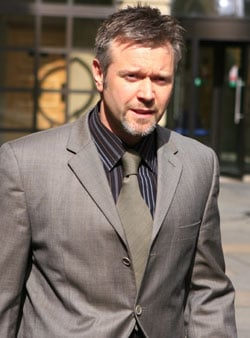 Photos of Darren Day at Edinburgh Sheriff Court Found Guilty of Drink Driving Given Five Year Driving Ban