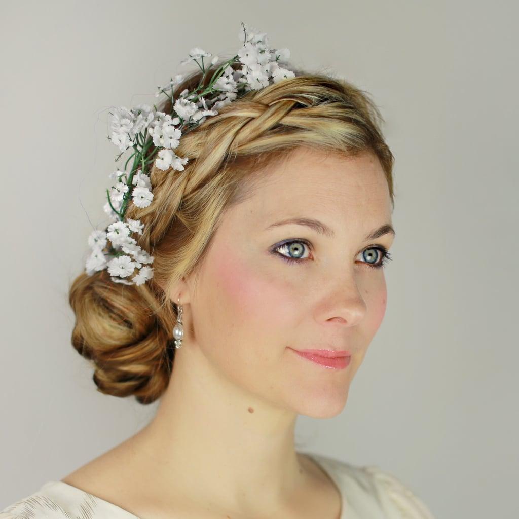 Plaited updo with fresh flowers best bridal hair ideas popsugar plaited updo with fresh flowers izmirmasajfo Gallery