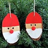Wood Slice Santas