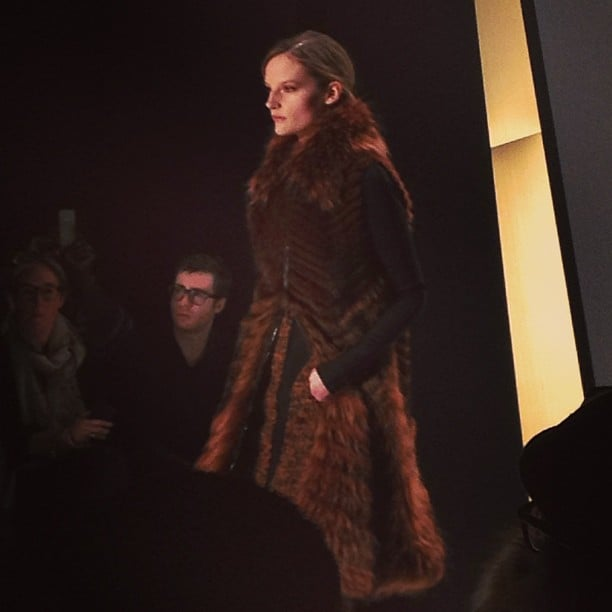 The ideal fur coat to keep out the Winter chill, courtesy of Donna Karan.