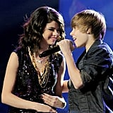 Selena and Justin shared the stage during the 2010 Dick Clark's New Year's Rockin' Eve event in Las Vegas.