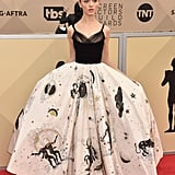 Natalia Dyer's Dior Dress at SAG Awards 2018