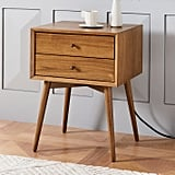 Bedroom: West Elm Mid-Century Charging Nightstand
