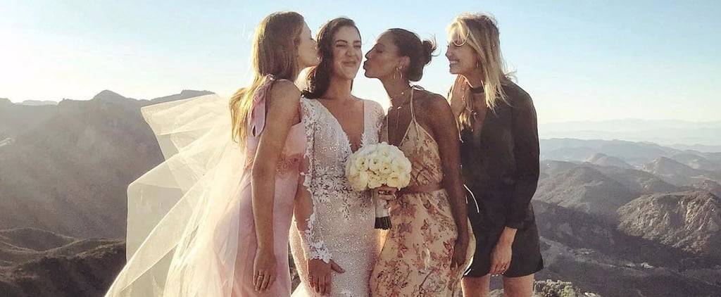 This Bride Was Surrounded by Her Closest Victoria's Secret Angel Pals on Her Wedding Day