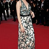 Kristen Stewart made an elegant arrival in her beaded Balenciaga.