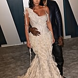 Kim and Kanye made a glam appearance at Vanity Fair's Oscars afterparty in February 2020.
