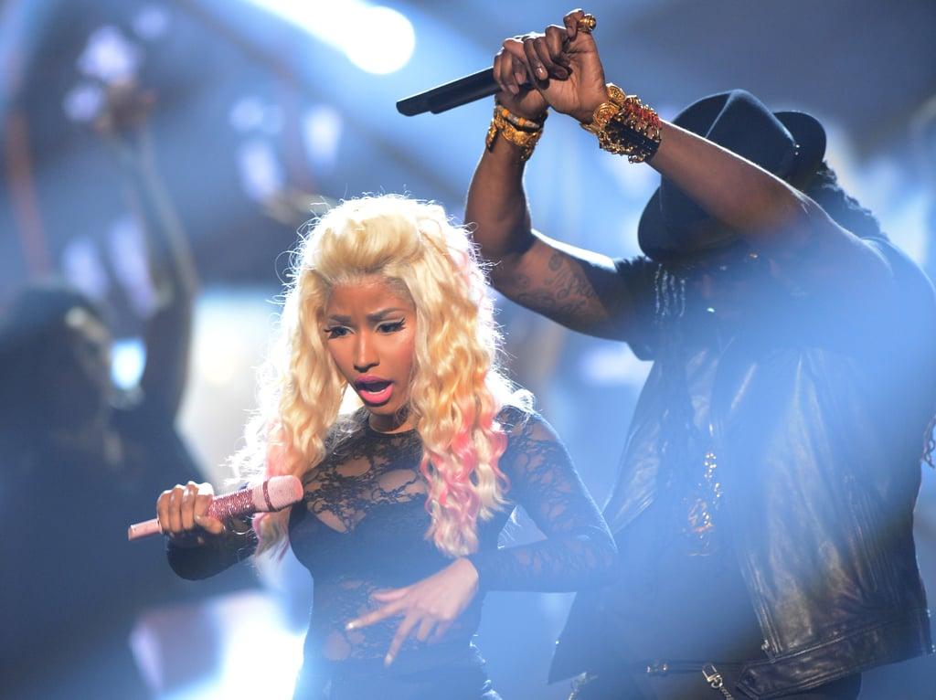 Nicki Minaj performed at the BET Awards in LA.