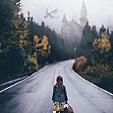 Emma, on her way to Hogwarts.