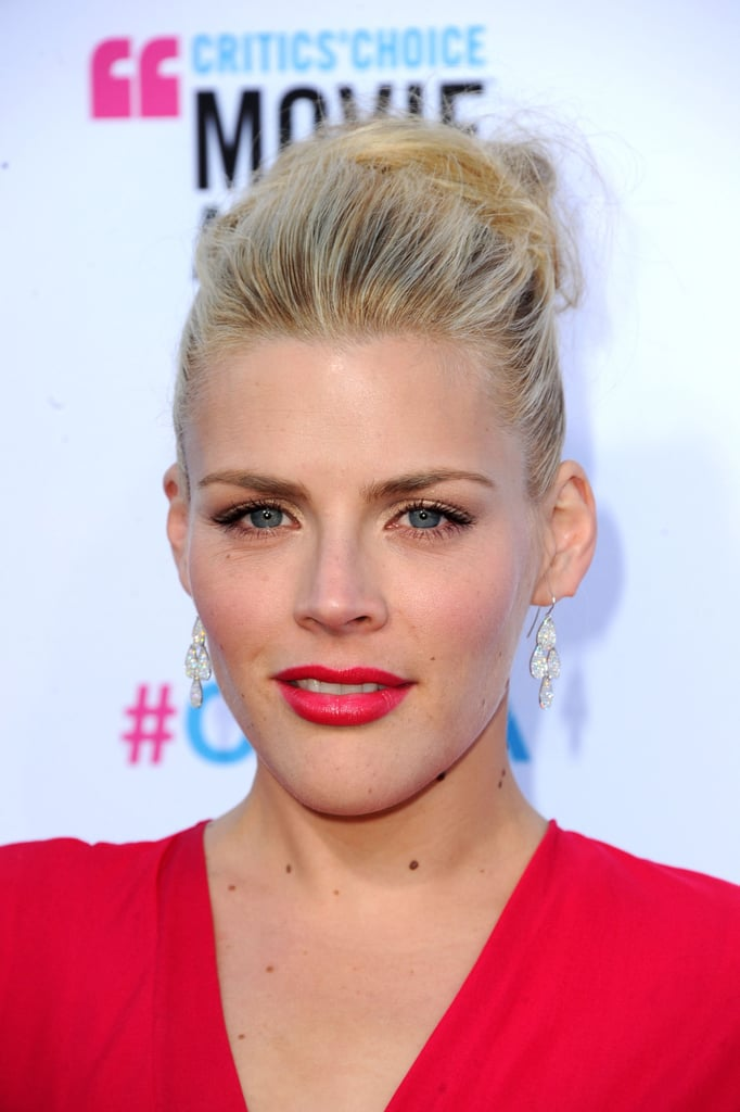 Busy Philipps with red lips in LA.