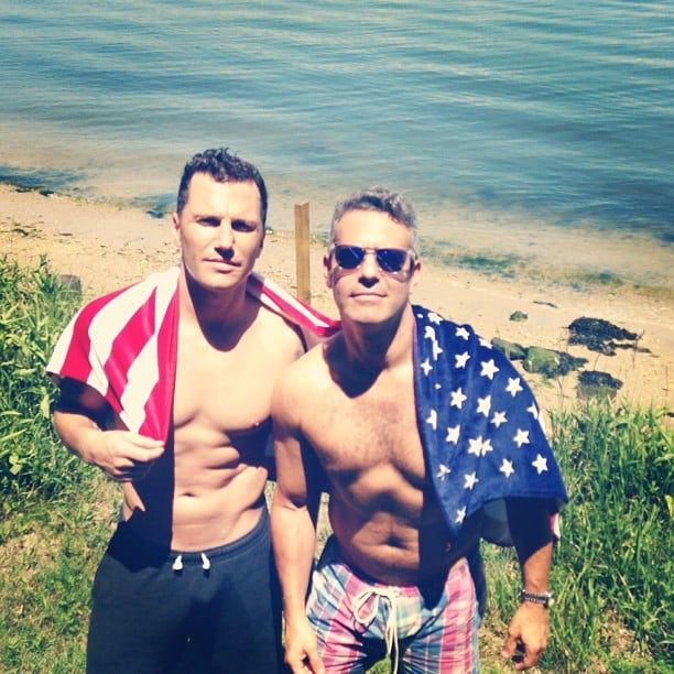 Andy Cohen and Sean Avery got shirtless for a day on the beach. Source: Instagram user bravoandy