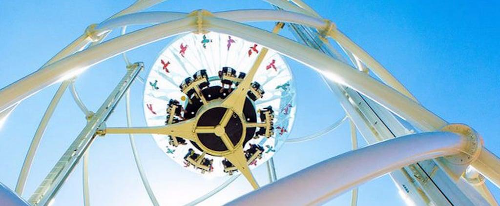وجهة جذب جديدة في دبي ستمكّنكم من احتساء مشروباتكم المفضّلة داخل كوبٍ معلّقٍ في الهواء
