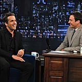 Ryan Reynolds joked with Jimmy Fallon Thursday night.