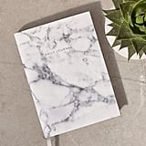 Ohh Deer White Marble Daily Journal