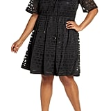 Eloquii Embroidered Fit & Flare Dress